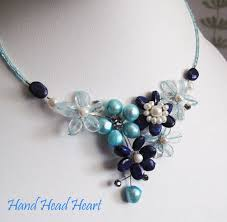 fashion gemstones jewelry necklace with earrings handmade image