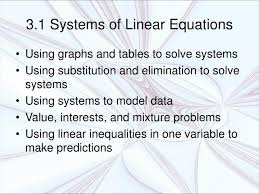 3 1 systems of linear equations