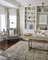 gray home office. Neutral Home Office Design Gray