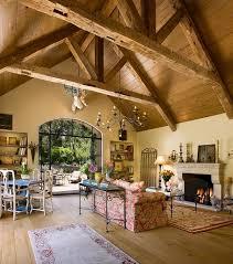 beams in interior design mediterranean style interior