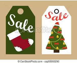 Christmas Tree Labels Sale Promo Tags Ready To Use Labels Christmas Tree