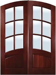 tdl atd2 6light mahogany arched rail front doors