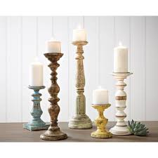 small wooden candlesticks tall white candle holders wood look candles chunky candle holders tall candle pillar stands