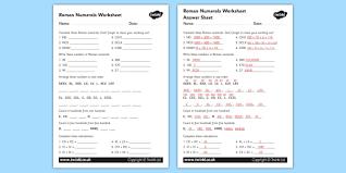 Roman Numerals Conversion Chart Roman Numerals Worksheet Roman Roman Numerals Numerals