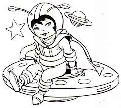 Small Picture A Cute Little Girl Dress on Astronaut Costume Coloring Page