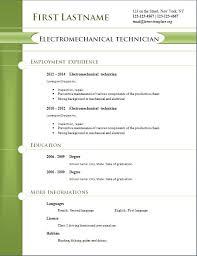 Free Resume Templates 2014 Free Cv Templates 254 To 260 Freecvtemplate