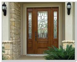 cool white fiberglass entry door with sidelights and great brick doors exterior front door with two