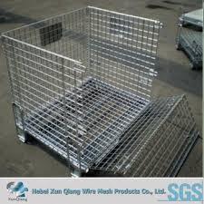 metal storage crates. Modren Storage Galvanized Wire Steel Cage Folding Metal Storage Crate With Wheels Intended Crates