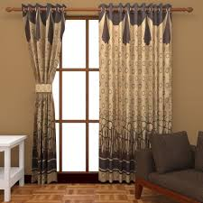 super india jacquard 2 piece cotton blend door curtain set 7ft gold at low s in india in