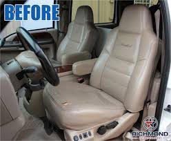 2005 ford excursion ed bauer leather seat cover driver side complete set 2 tone tan black