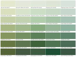 Green Paint Color Chart Moss Green Paint Color