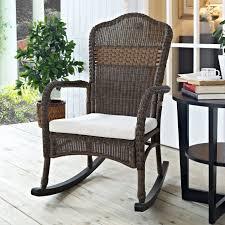 c coast mocha resin wicker rocking chair with beige cushion regarding outdoor wicker rocker