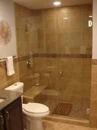 simple bathrooms with shower. Bathroom Simple Glass Shower Door Design Idea With Brown Wall Dark Border Accent White Towel And Closet Seat M Bathrooms O