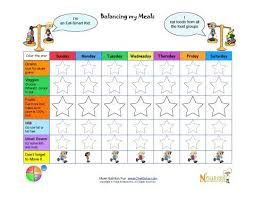 Tracking Meals Chart Make Tracking Childrens Healthy Goals Fun With Our Very