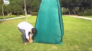 Outdoor Bathroom Tent How To Setup And Folding Portable Toilet Tent Youtube