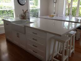 kitchen kitchen island with sink and dishwasher seating square white porcelain double stainless steel pull