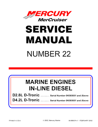 Mercury D4 2l D Tronic Service Manual Manualzz Com
