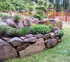 gardening with rocks raised bed herb