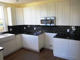 Subway Tile Kitchen Backsplash Perfect White Subway Tile Backsplash On Kitchen With In Glass