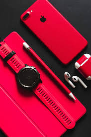 Hd Wallpaper Smartwatch Stylus Airpods And Product Red