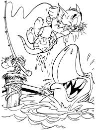 Small Picture Nobita Fishing Shark Coloring Page Boys pages of