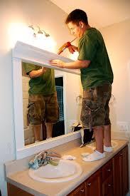 Best  Bathroom Mirrors Diy Ideas On Pinterest - Trim around bathroom mirror