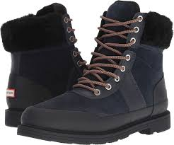 Amazon Com Hunter Womens Insulated Leather Commando Boots