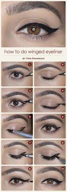 winged eyeliner tutorials how to do a cat eye winged eyeliner easy step by