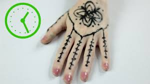 Pen Mehndi Design 3 Ways To Draw Henna Tattoos Wikihow