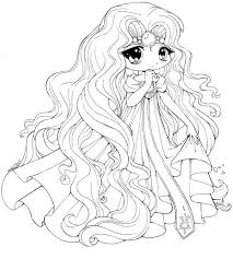 Chibi Princess Coloring Pages