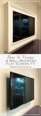 custom diy frame for wall mounted tv finished