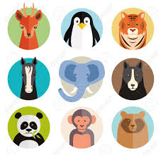 Animal Icon Set Of Vector Animal Icons In Round Buttons