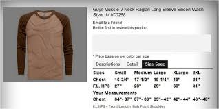 Mens Adult Shirts Size Chart Not For Sale