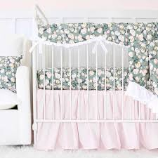 I Blytheu0027s Sage Blush And Ivory Floral Baby Girl Crib Bedding Set