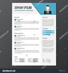 Cv Resume Template Vector Graphic Layout Stock Vector 339494699