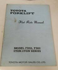 heavy equipment manuals books for toyota and forklift toyota forklift fd50 fd60 flat rate manual
