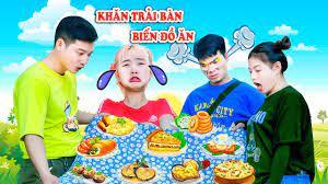 Khăn Trải Bàn Ẩm Thực Có Thể Biến Ra Đồ Ăn Của Doraemon Công Tặng Hạt Tiêu  - Phim Hài Táo Xanh TV - YouTube