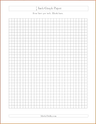 One Inch Grid Paper One Inch Grid Inch Graph Paper Template