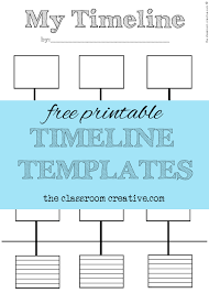 Timeline Template For Student Fascinating Free Printable Timeline Templates Theclassroomcreative