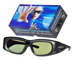 Sharp 3d Glasses Rechargeable Compatible Ultra Clear