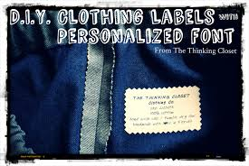 Diy Clothing Label Craft Mash Up Diy Clothing Labels With Personalized Font