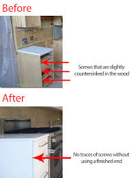 cabinets screws. kitchen cabinets before and after with countersunk screws