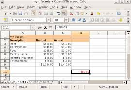 how to make a budget create a spreadsheet openoffice documents