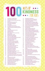 acts of kindness for kids coffee cups and crayons 100 acts of kindness for kids