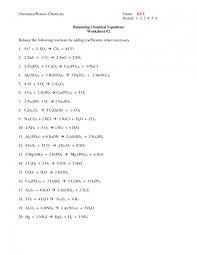 captivating introduction to balancing chemical equations worksheet answers 1 21 1 6 balancing chemical equations worksheet