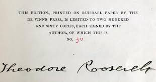 theodore roosevelt essay if you are writing an essay about  outdoor pastimes of an american hunter roosevelt first edition signed theodore roosevelt