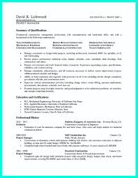 Resume For Construction Project Manager Study Cool To Get Ap