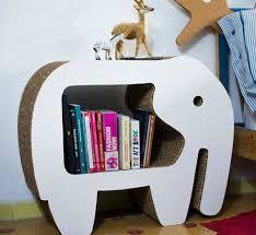 elephant cardboard bookshelves design