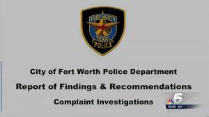 Review Faults Fort Worth Police In Racial Incidents