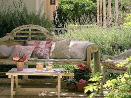 outdoor garden decor. cottage style outdoor furniture rustic country garden decor a
